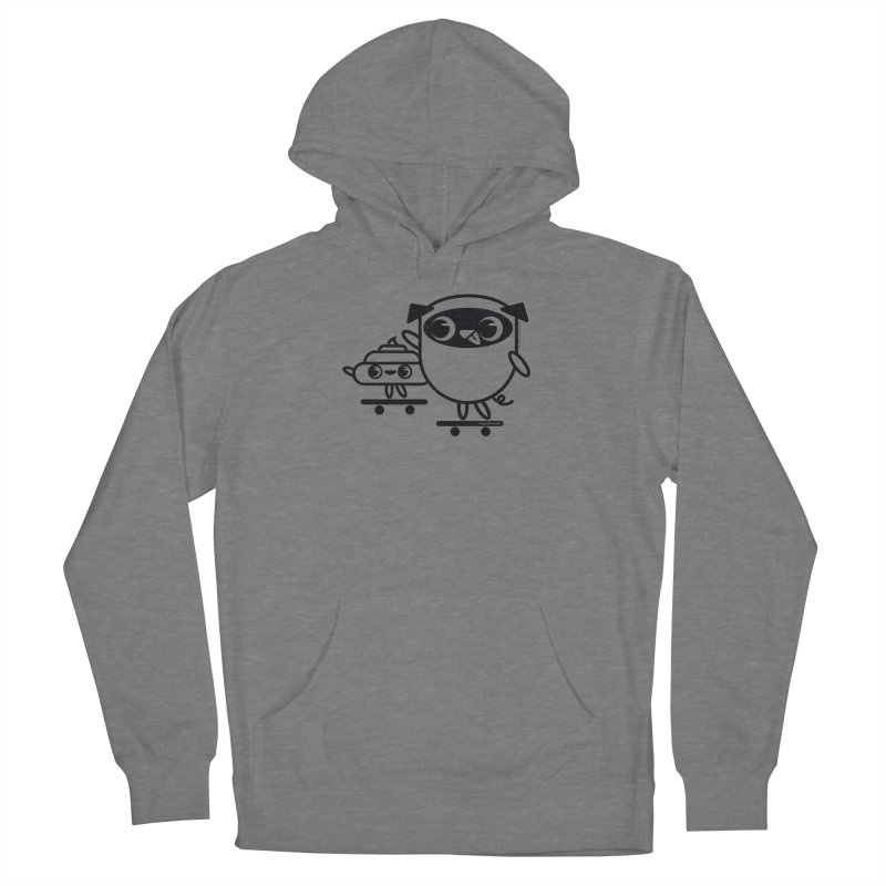 Pug and Poo Skate Men's Pullover Hoody by Pug and Poo's Store