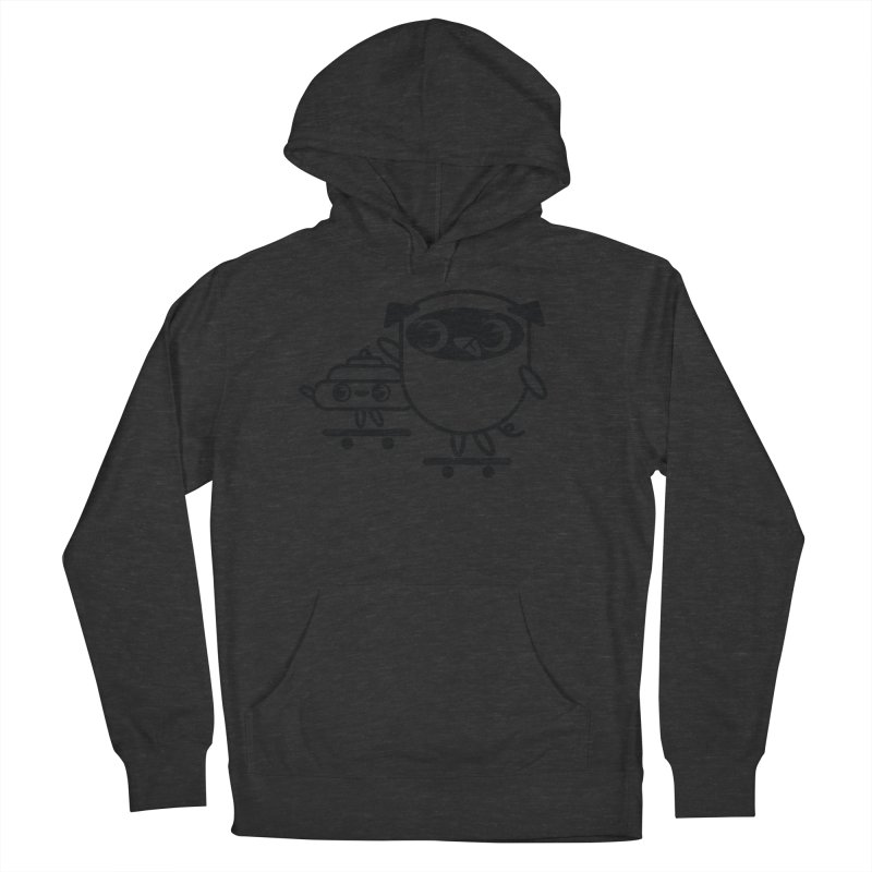 Pug and Poo Skate Women's French Terry Pullover Hoody by Pug and Poo's Store