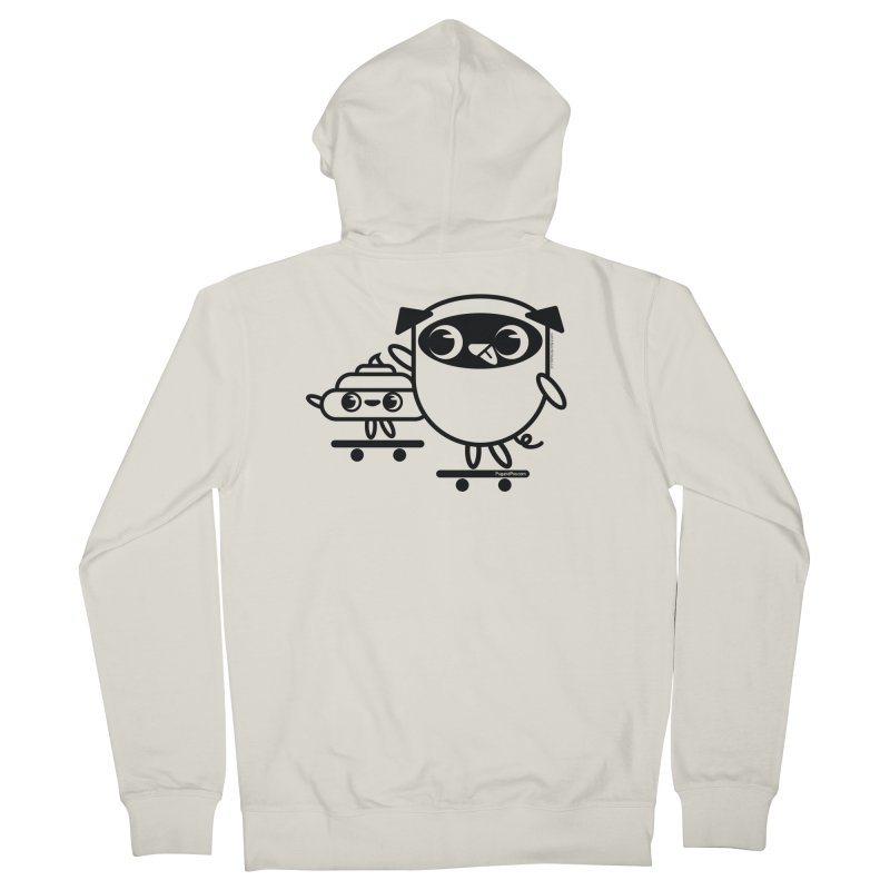 Pug and Poo Skate Women's French Terry Zip-Up Hoody by Pug and Poo's Store
