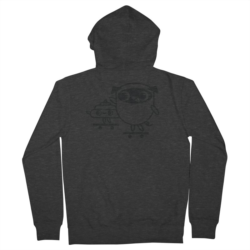 Pug and Poo Skate Men's French Terry Zip-Up Hoody by Pug and Poo's Store