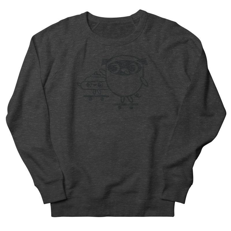 Pug and Poo Skate Men's French Terry Sweatshirt by Pug and Poo's Store