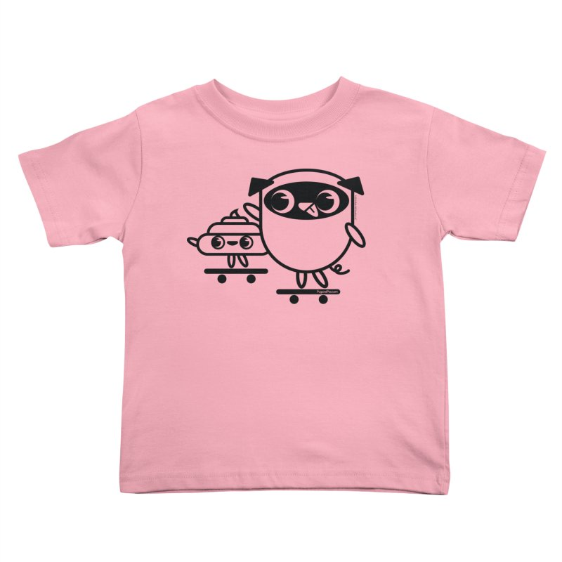Pug and Poo Skate Kids Toddler T-Shirt by Pug and Poo's Store
