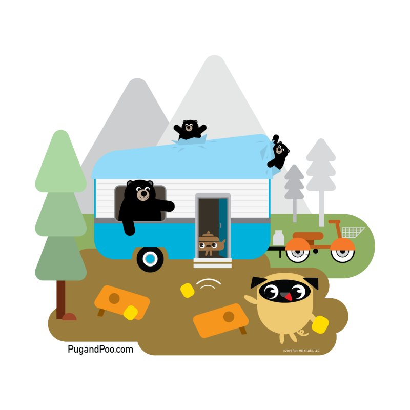 Pug and Poo RV Accessories Sticker by Pug and Poo's Store