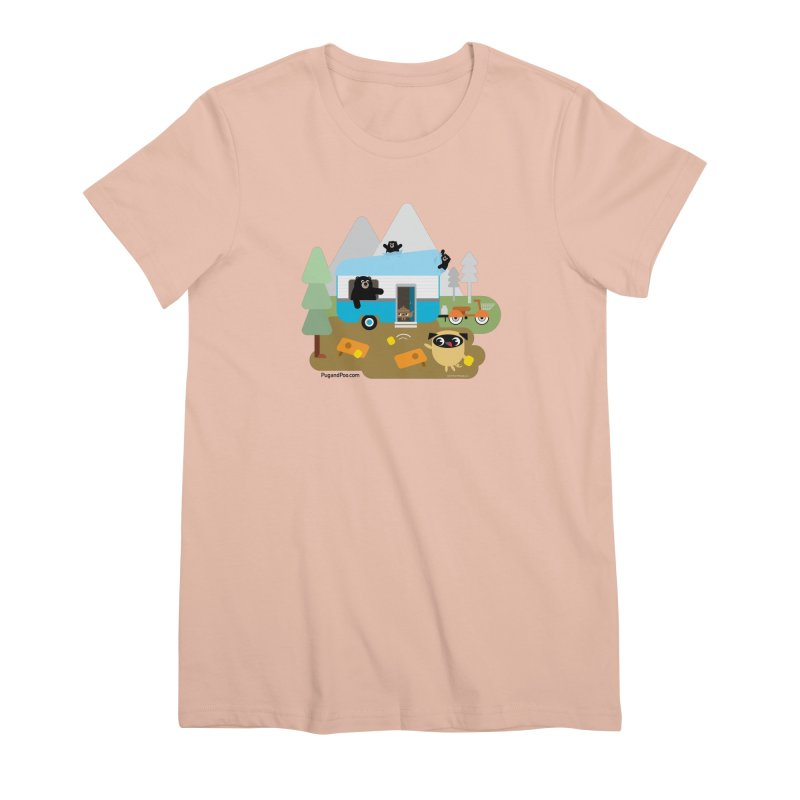 Pug and Poo RV Women's Premium T-Shirt by Pug and Poo's Store