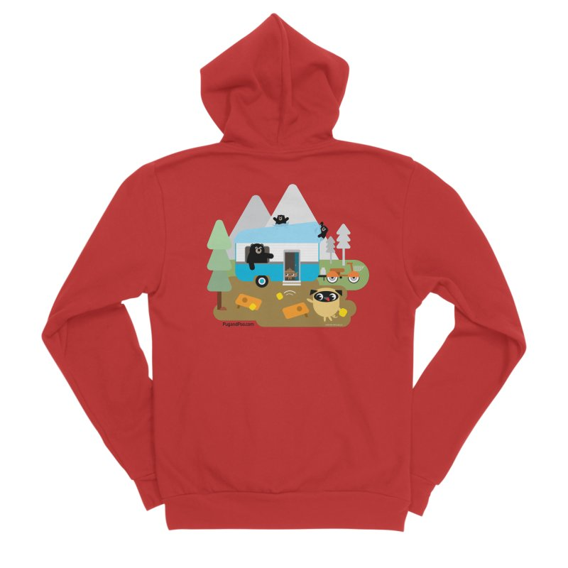 Pug and Poo RV Men's Zip-Up Hoody by Pug and Poo's Store