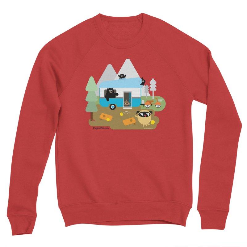 Pug and Poo RV Men's Sponge Fleece Sweatshirt by Pug and Poo's Store