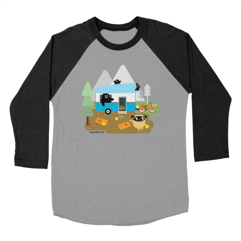 Pug and Poo RV Men's Baseball Triblend Longsleeve T-Shirt by Pug and Poo's Store