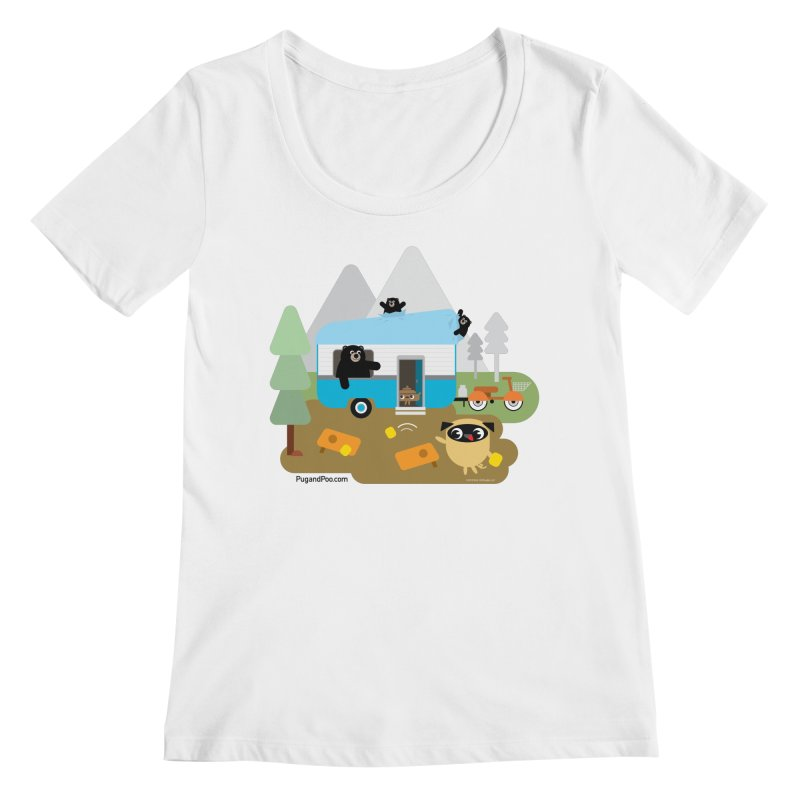 Pug and Poo RV Women's Regular Scoop Neck by Pug and Poo's Store