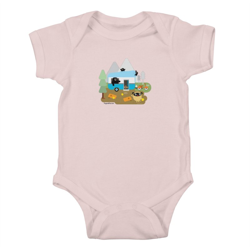 Pug and Poo RV Kids Baby Bodysuit by Pug and Poo's Store