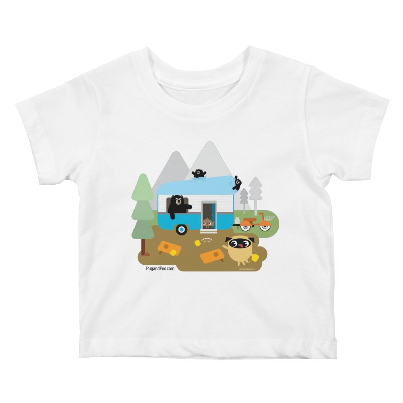 Pug and Poo RV Kids Baby T-Shirt by Pug and Poo's Store