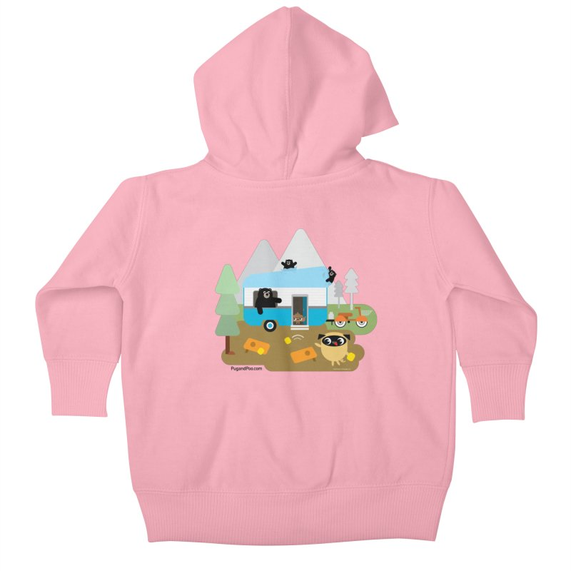 Pug and Poo RV Kids Baby Zip-Up Hoody by Pug and Poo's Store