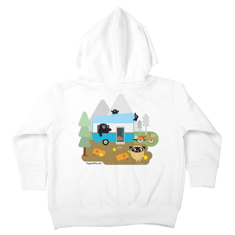 Pug and Poo RV Kids Toddler Zip-Up Hoody by Pug and Poo's Store