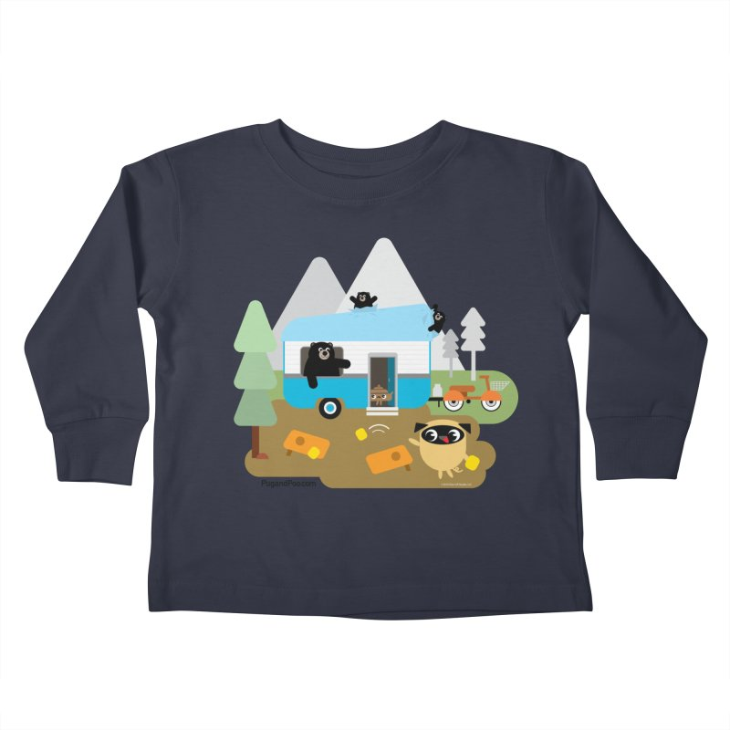 Pug and Poo RV Kids Toddler Longsleeve T-Shirt by Pug and Poo's Store