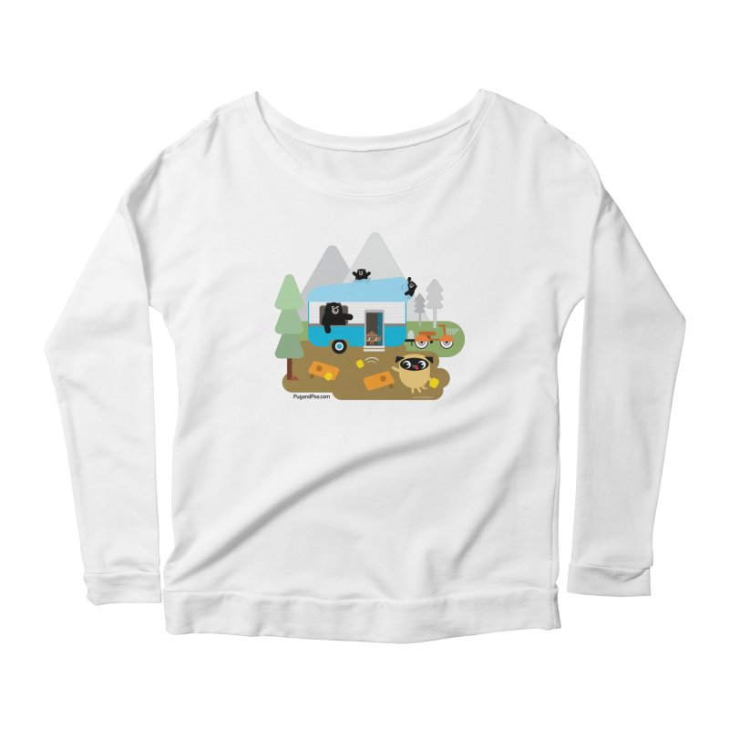 Pug and Poo RV Women's Scoop Neck Longsleeve T-Shirt by Pug and Poo's Store