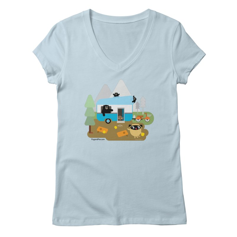 Pug and Poo RV Women's Regular V-Neck by Pug and Poo's Store