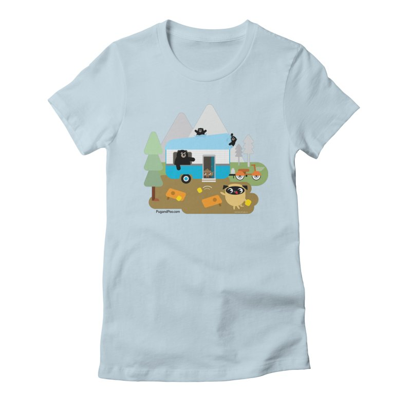 Pug and Poo RV Women's Fitted T-Shirt by Pug and Poo's Store