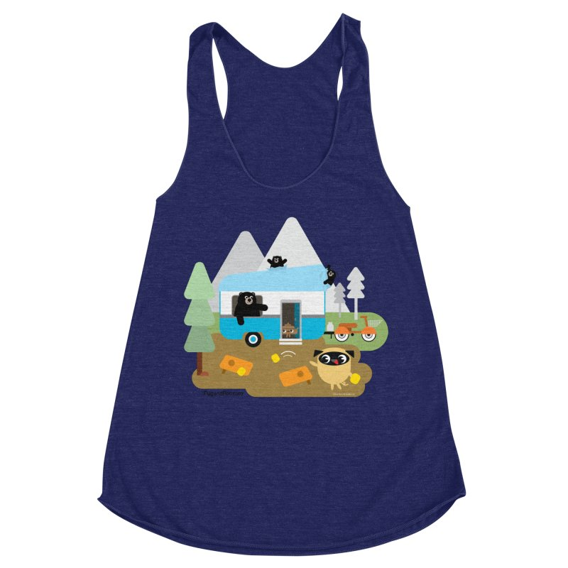 Pug and Poo RV Women's Racerback Triblend Tank by Pug and Poo's Store