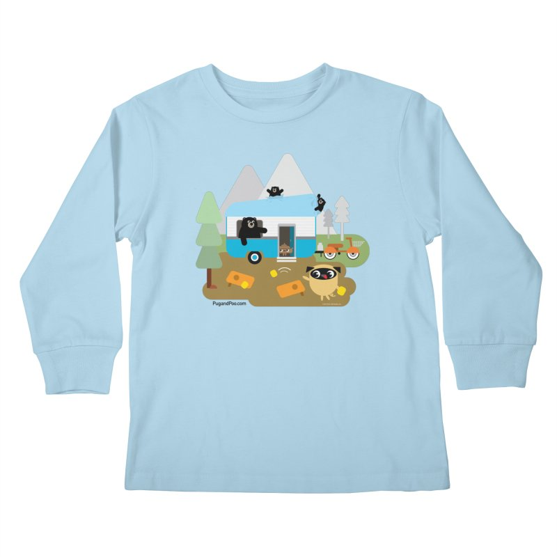 Pug and Poo RV Kids Longsleeve T-Shirt by Pug and Poo's Store