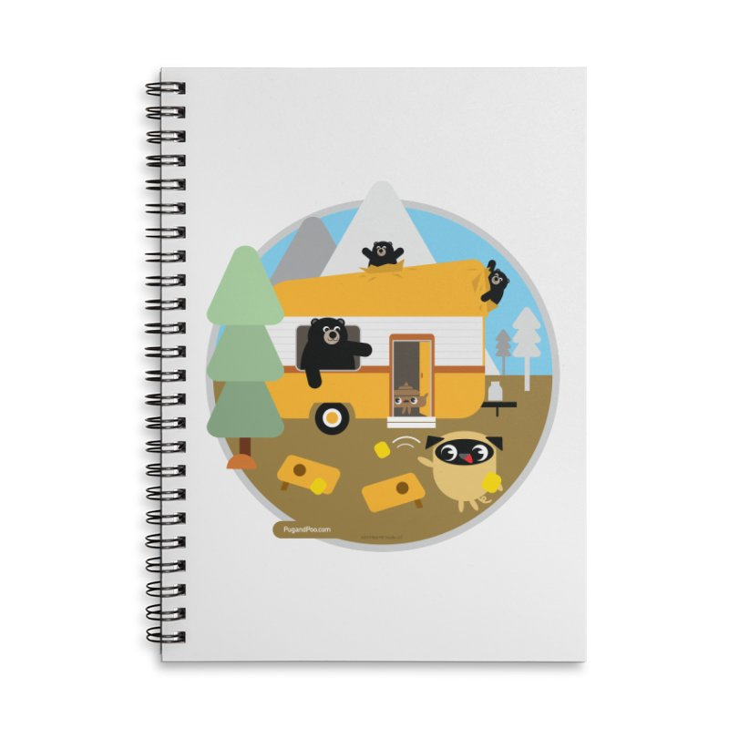 Pug and Poo RV / Circle Accessories Lined Spiral Notebook by Pug and Poo's Store