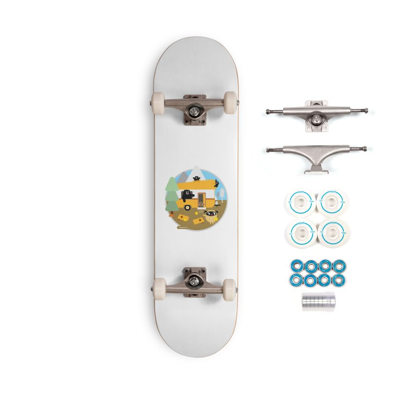Pug and Poo RV / Circle Accessories Skateboard by Pug and Poo's Store