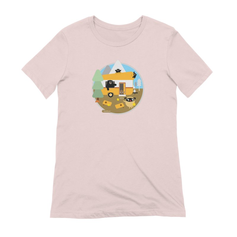 Pug and Poo RV / Circle Women's Extra Soft T-Shirt by Pug and Poo's Store