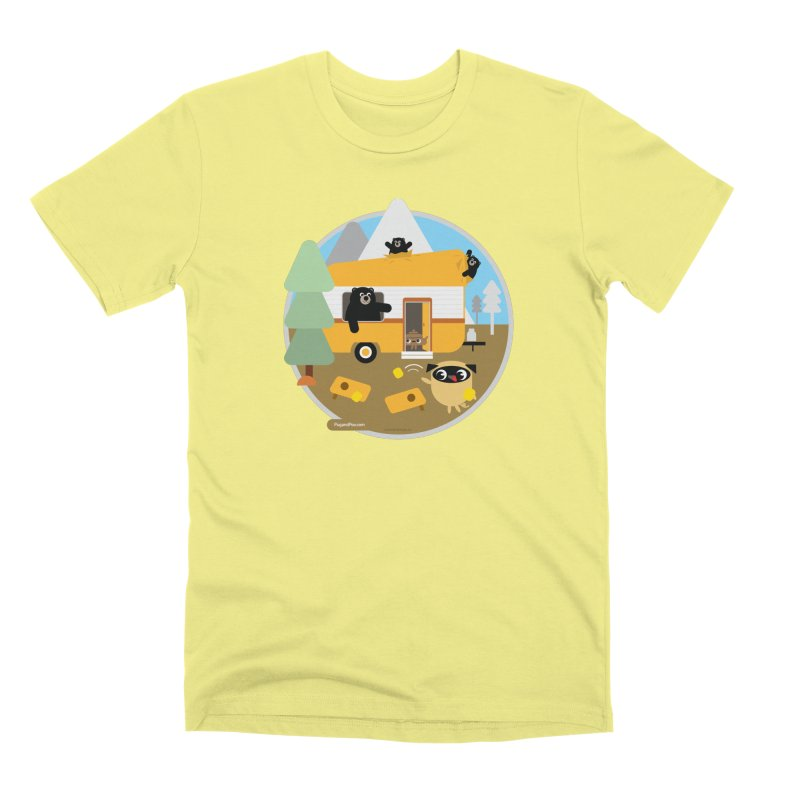Pug and Poo RV / Circle Men's Premium T-Shirt by Pug and Poo's Store