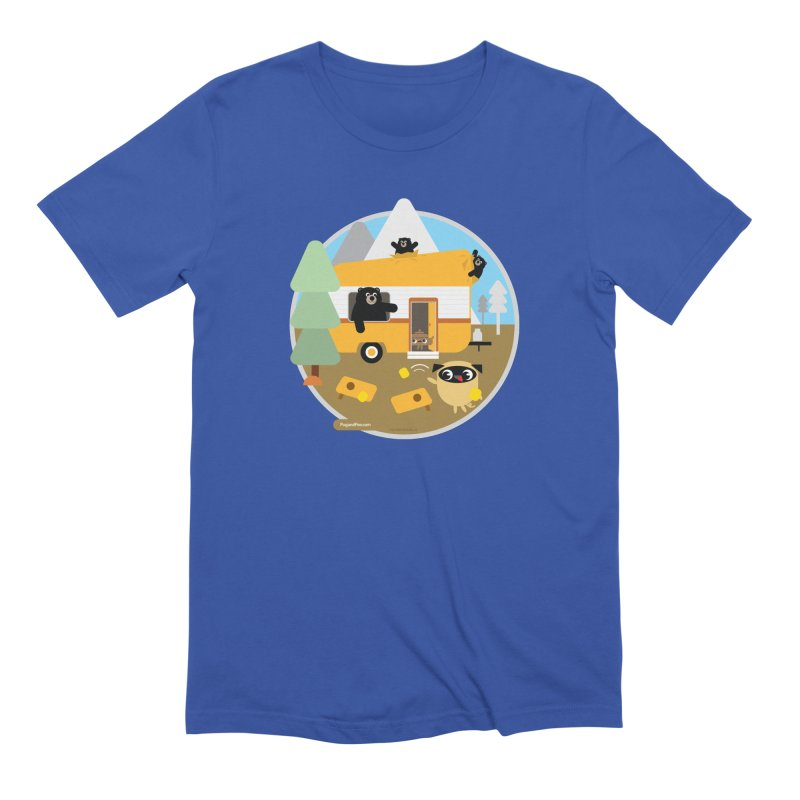 Pug and Poo RV / Circle Men's Extra Soft T-Shirt by Pug and Poo's Store