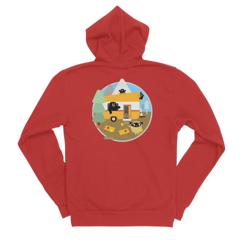 Pug and Poo RV / Circle Men's Zip-Up Hoody by Pug and Poo's Store
