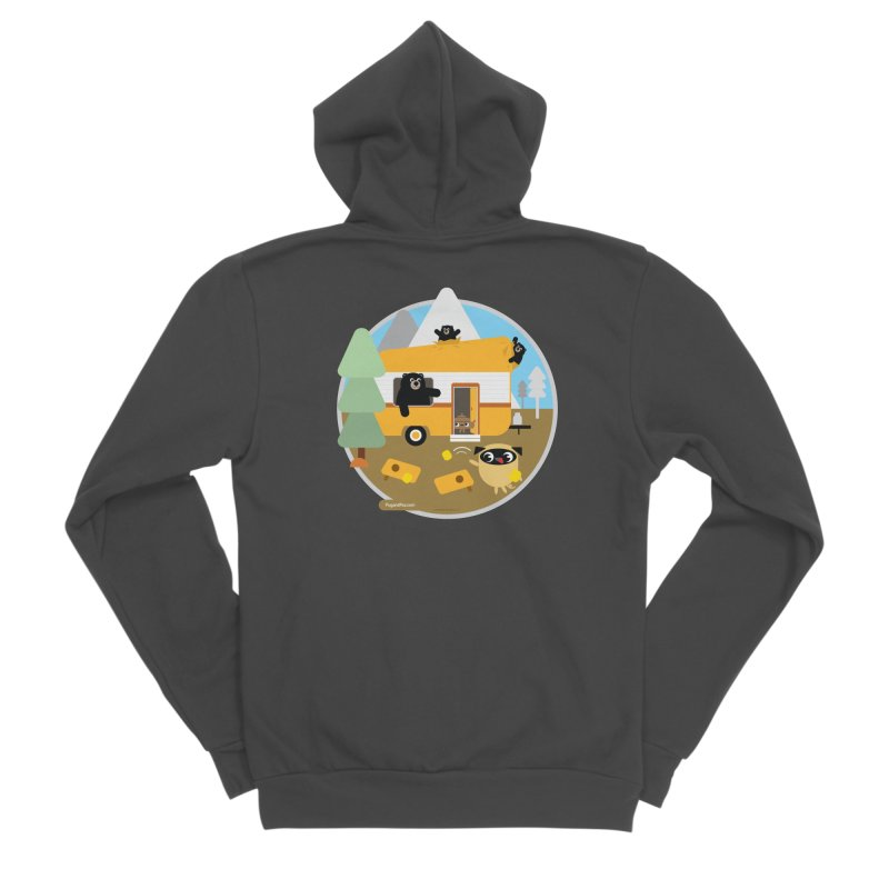 Pug and Poo RV / Circle Women's Sponge Fleece Zip-Up Hoody by Pug and Poo's Store