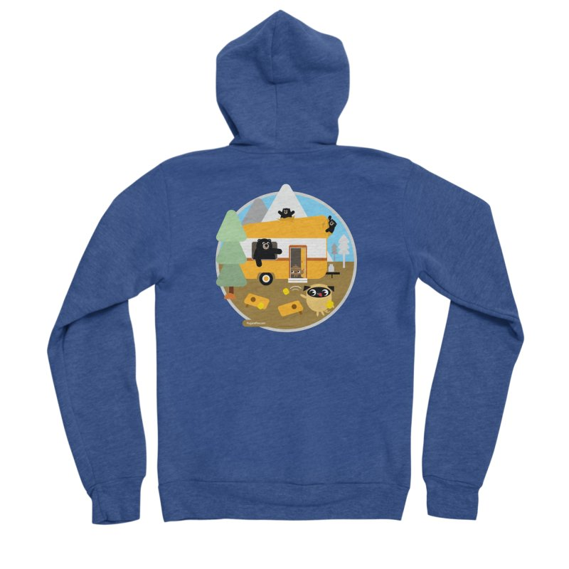 Pug and Poo RV / Circle Men's Sponge Fleece Zip-Up Hoody by Pug and Poo's Store