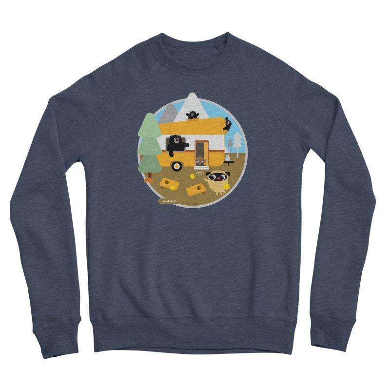 Pug and Poo RV / Circle Men's Sponge Fleece Sweatshirt by Pug and Poo's Store