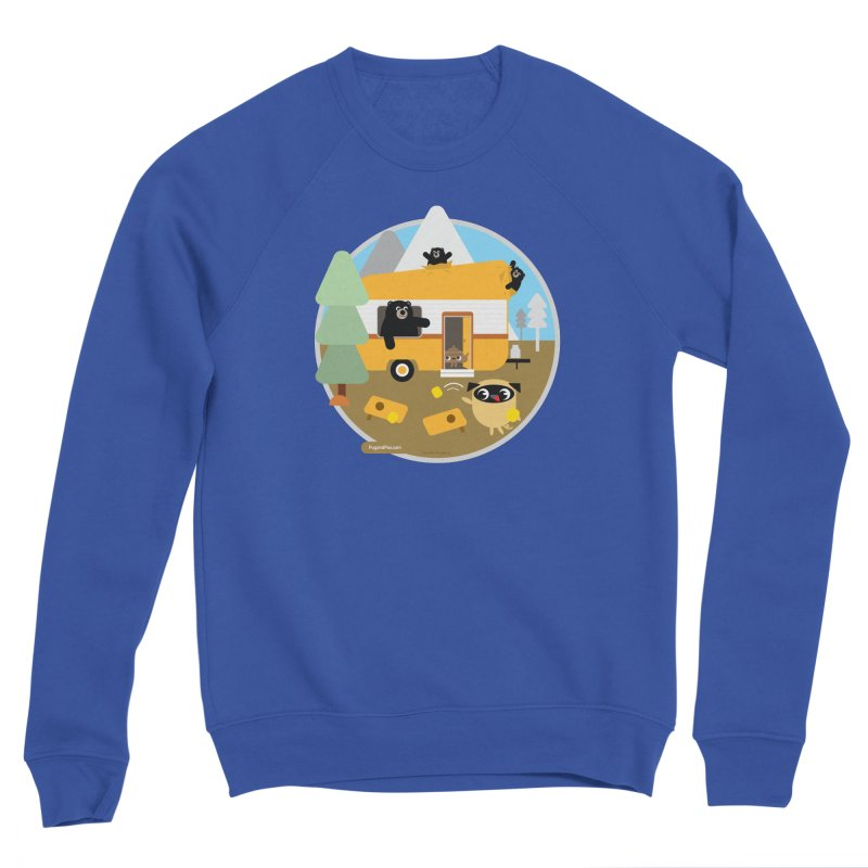 Pug and Poo RV / Circle Men's Sweatshirt by Pug and Poo's Store