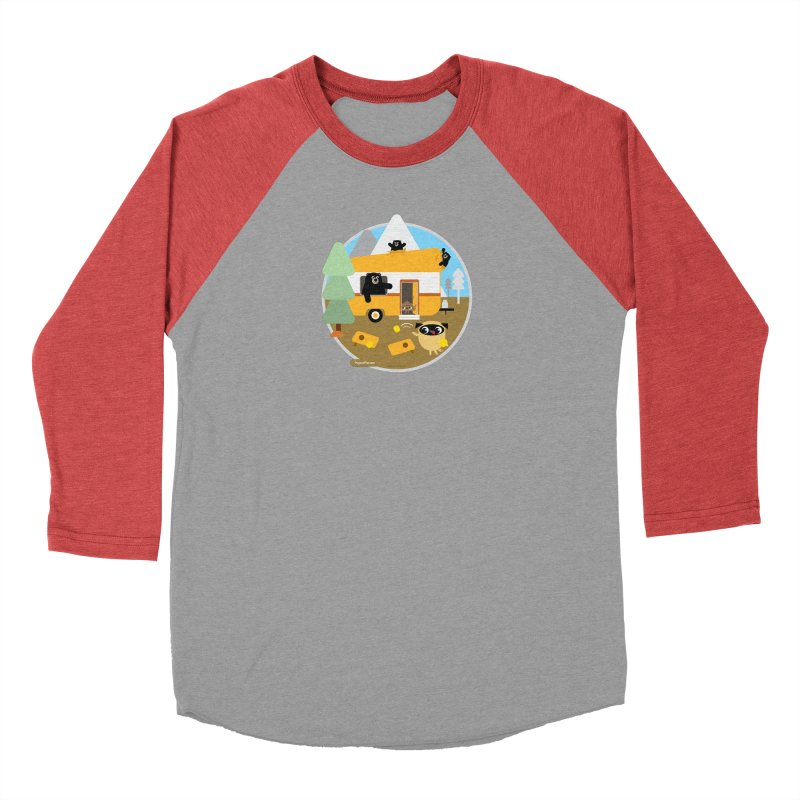 Pug and Poo RV / Circle Women's Baseball Triblend Longsleeve T-Shirt by Pug and Poo's Store