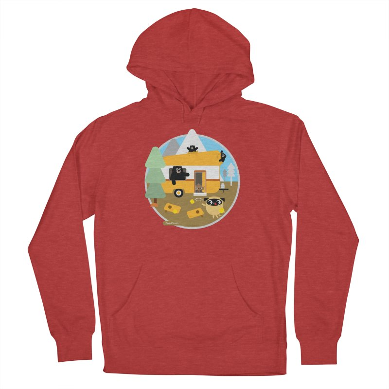 Pug and Poo RV / Circle Men's French Terry Pullover Hoody by Pug and Poo's Store