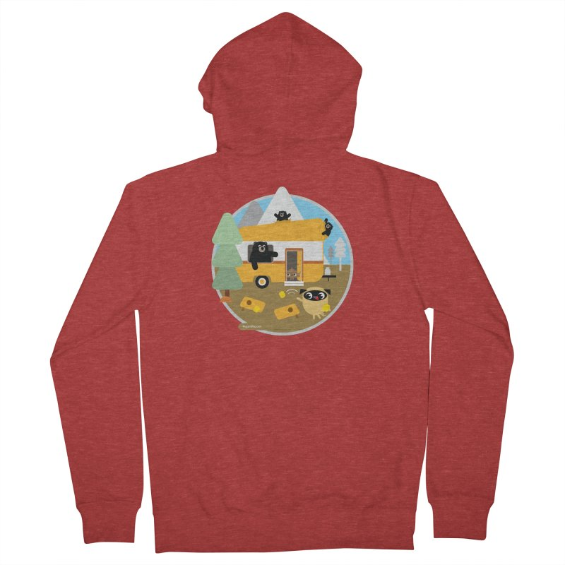 Pug and Poo RV / Circle Women's French Terry Zip-Up Hoody by Pug and Poo's Store