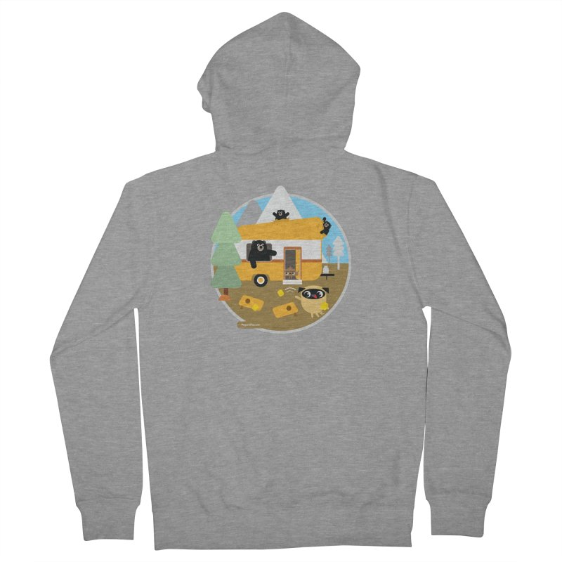 Pug and Poo RV / Circle Men's French Terry Zip-Up Hoody by Pug and Poo's Store