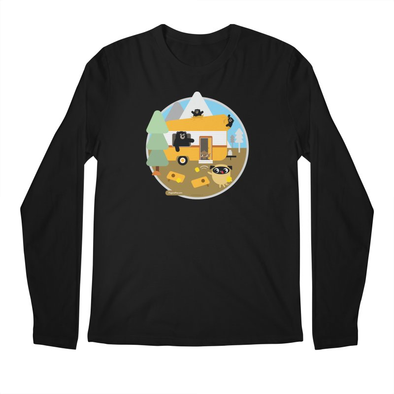 Pug and Poo RV / Circle Men's Regular Longsleeve T-Shirt by Pug and Poo's Store