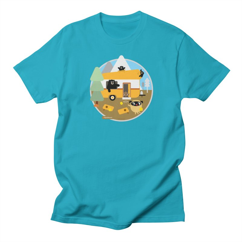 Pug and Poo RV / Circle Men's Regular T-Shirt by Pug and Poo's Store