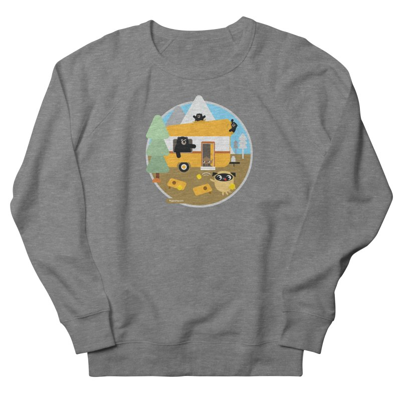 Pug and Poo RV / Circle Women's French Terry Sweatshirt by Pug and Poo's Store