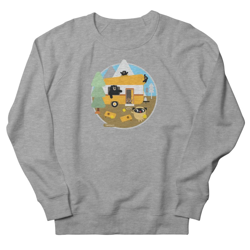 Pug and Poo RV / Circle Men's French Terry Sweatshirt by Pug and Poo's Store