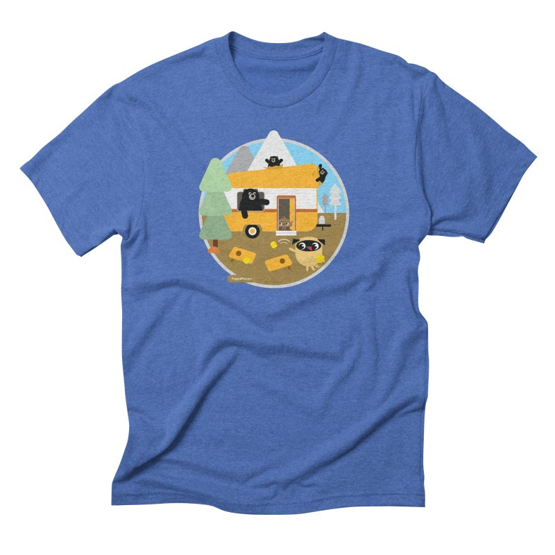Pug and Poo RV / Circle Men's Triblend T-Shirt by Pug and Poo's Store
