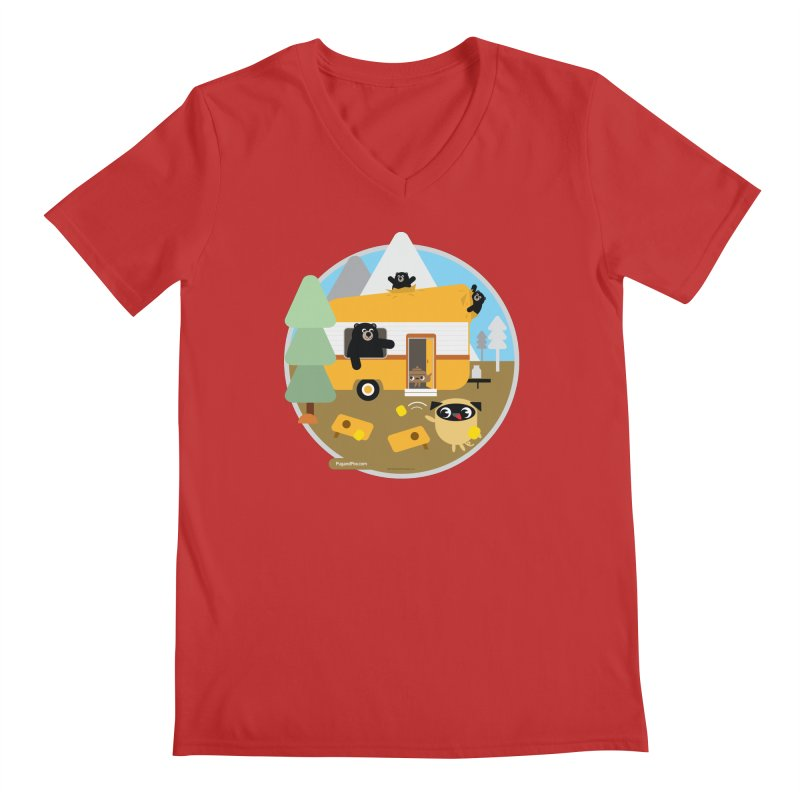 Pug and Poo RV / Circle Men's Regular V-Neck by Pug and Poo's Store