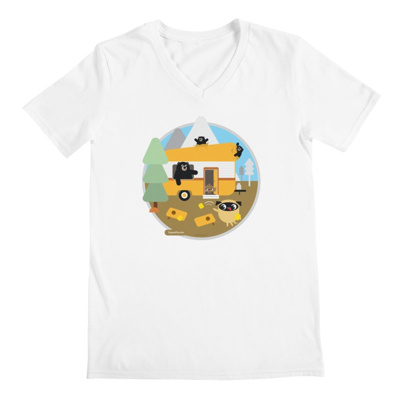 Pug and Poo RV / Circle Men's V-Neck by Pug and Poo's Store