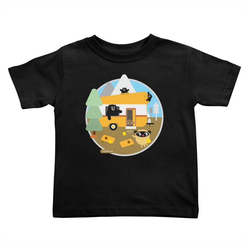 Pug and Poo RV / Circle Kids Toddler T-Shirt by Pug and Poo's Store