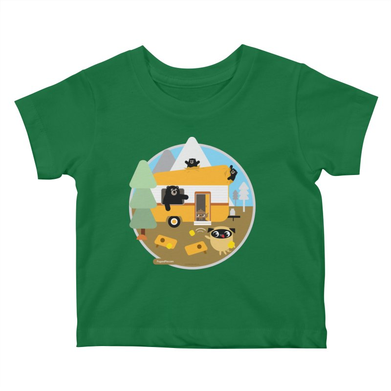 Pug and Poo RV / Circle Kids Baby T-Shirt by Pug and Poo's Store