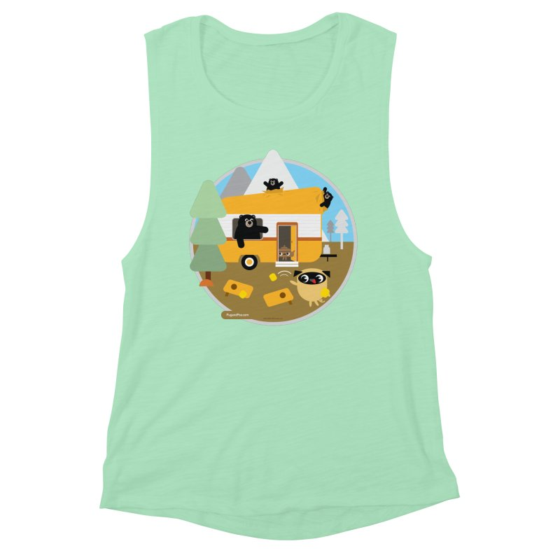 Pug and Poo RV / Circle Women's Muscle Tank by Pug and Poo's Store