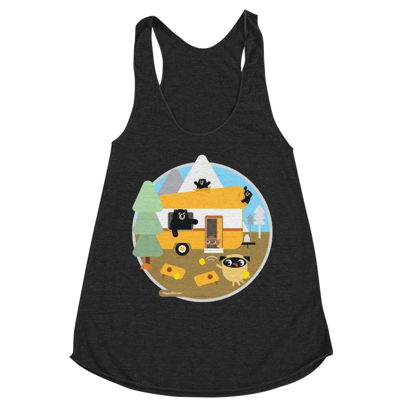 Pug and Poo RV / Circle Women's Racerback Triblend Tank by Pug and Poo's Store