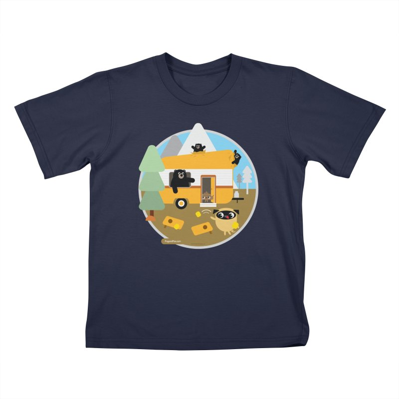 Pug and Poo RV / Circle Kids T-Shirt by Pug and Poo's Store