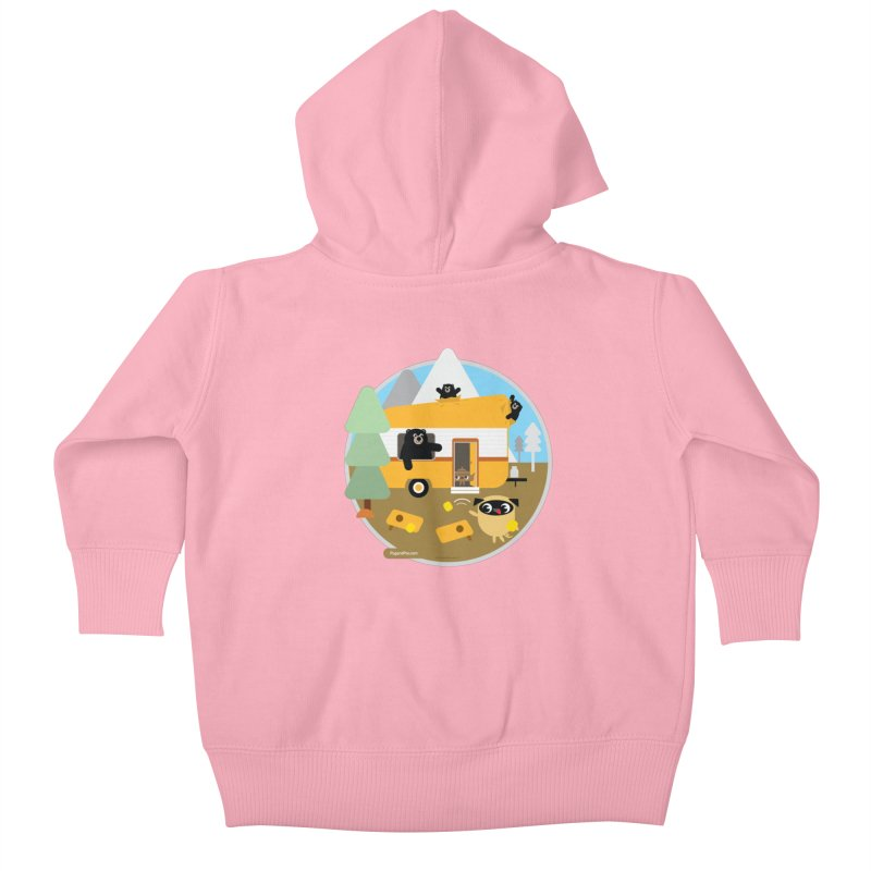 Pug and Poo RV / Circle Kids Baby Zip-Up Hoody by Pug and Poo's Store