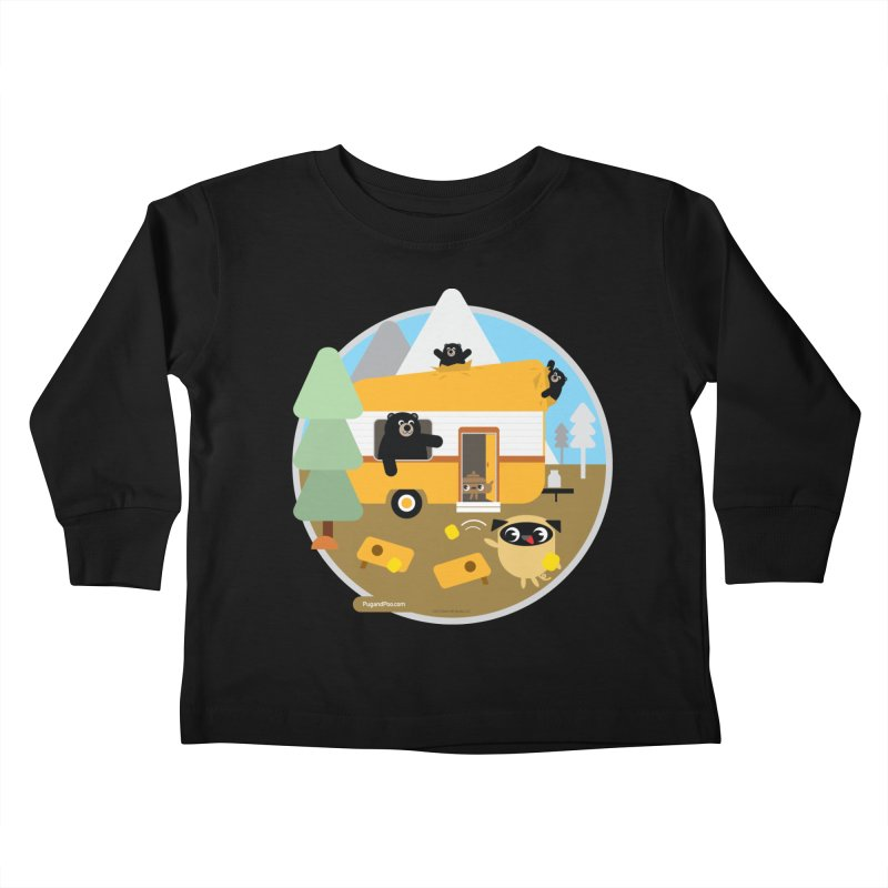 Pug and Poo RV / Circle Kids Toddler Longsleeve T-Shirt by Pug and Poo's Store